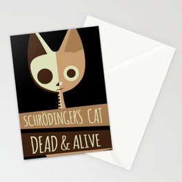 Schroedinger's Cat I Funny Dead and Alive Scientists print Stationery Cards