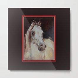 Arabian Horse on the dark background Metal Print
