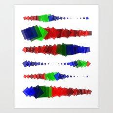 Screen Squares Art Print