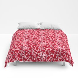 Candy cane flower pattern 2a Comforters
