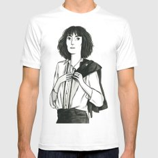 Patti Smith White Mens Fitted Tee MEDIUM