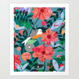 Sea Gull Hybrid Art Print
