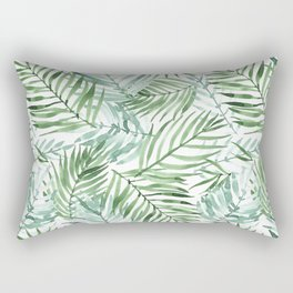 Watercolor palm leaves pattern Rectangular Pillow