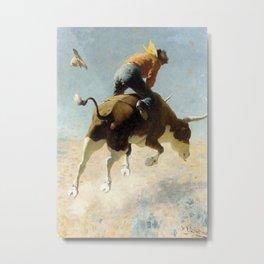 "William Leigh Western Art ""A Wild Texas Steer"" Metal Print"