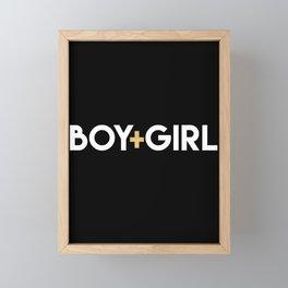 BOY + GIRL | equals love quote Framed Mini Art Print