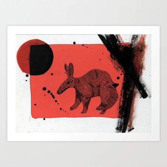 TATU CARRETA IN ATACAMA. Art Print