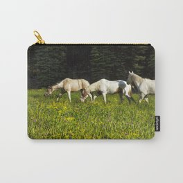 Horses In a Field Carry-All Pouch