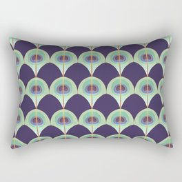 Peacock Feather Art Deco Rectangular Pillow