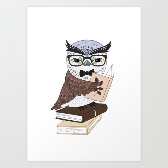 Professor Owl Art Print