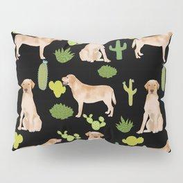 Labrador Retriever yellow lab cute cactus southwest pet portrait dog breed desert Pillow Sham
