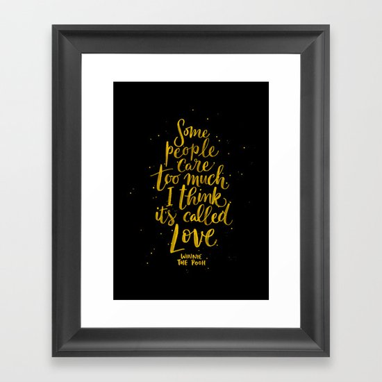 It's Called Love  Framed Art Print