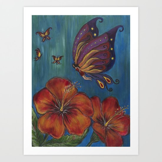 Butterfly Fairy Art Print
