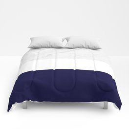 Marble White Royal Blue Comforters