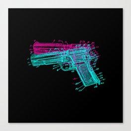 Gun Diagram Canvas Print