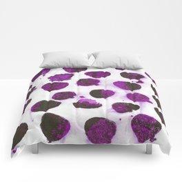 Deep purple floating ink blobs. Comforters