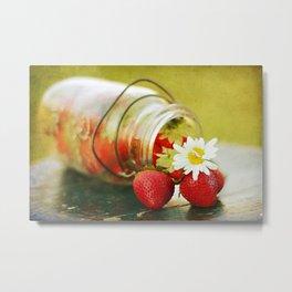 fraises Metal Print