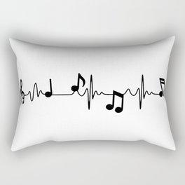 MUSICAL HEART BEAT Rectangular Pillow