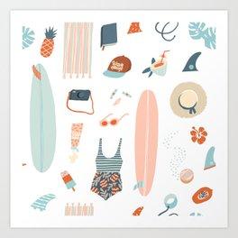 Summer kit Art Print