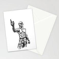 Techno Viking Love  Stationery Cards