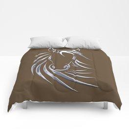 Horse Head Brown  Comforters