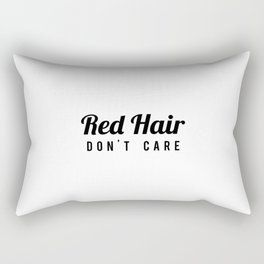 Red hair don't care Rectangular Pillow