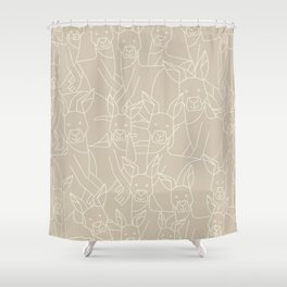 Minimalist Kangaroo Shower Curtain