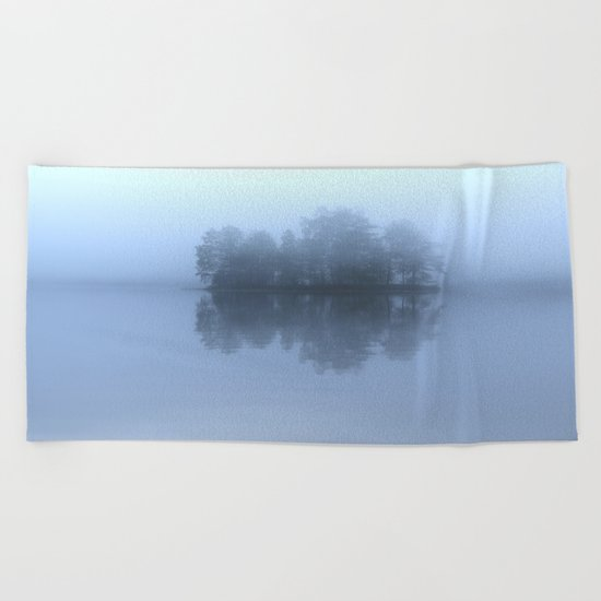 Blue Reflection  Beach Towel