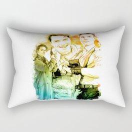 Captain Jack Harkness inspired Mixed Media Watercolor Rectangular Pillow