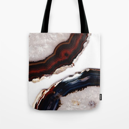 Red meets Blue - Agate Translucent #1 #decor #art #society6 Tote Bag