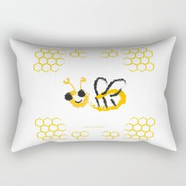 Happy bee Rectangular Pillow