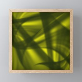 A flowing pattern of smooth yellow lines on the fibers of the veil with light luminous transitions. Framed Mini Art Print