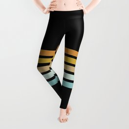 Retro Sunshine Stripes Leggings