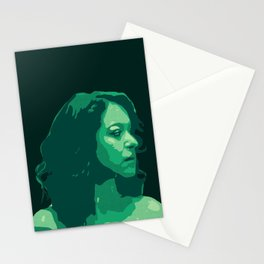 Tatiana in Green Stationery Cards