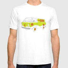 The Mystery Machine SMALL White Mens Fitted Tee