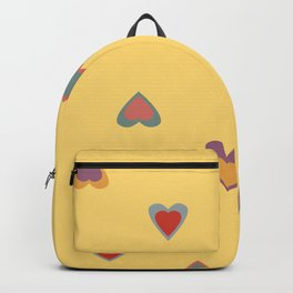 Scattered Colourful Summer Love hearts Backpack