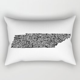 Typographic Tennessee Rectangular Pillow