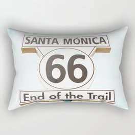 Travel photography Santa Monica XIV 66 End of the Trail Rectangular Pillow
