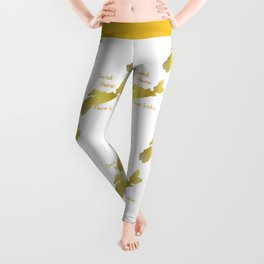 Sweet Home Nova Scotia Gold Leggings