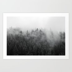 Black and White Mist Art Print