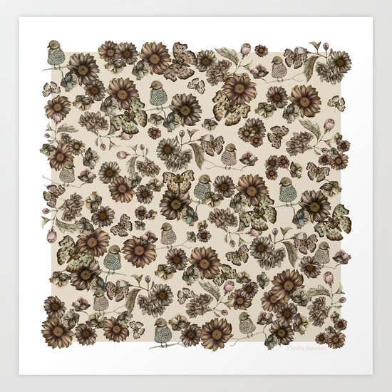 Silvestre pattern Art Print