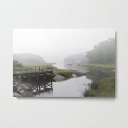 Foggy little river Metal Print