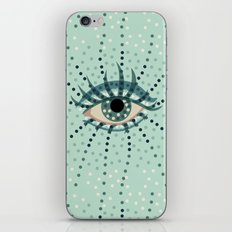 Dots And Abstract Eye iPhone & iPod Skin