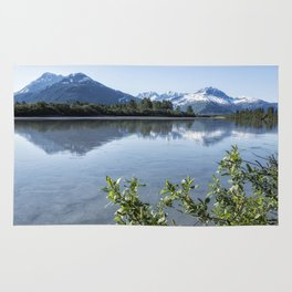 Placer River at the Bend in Turnagain Arm, No. 2 Rug