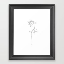 Fragile Rose Framed Art Print