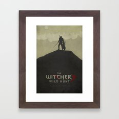 Hunting Evil - The Witcher 3: Wild Hunt Poster Framed Art Print