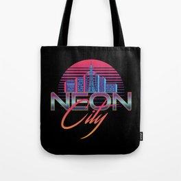 Neon City Retro Wave - 80's Aesthethics Tote Bag