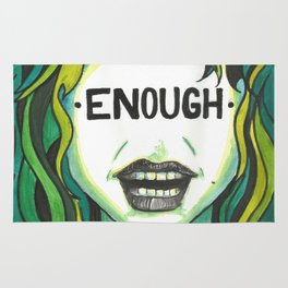 """Words Within: """"Enough"""" Rug"""
