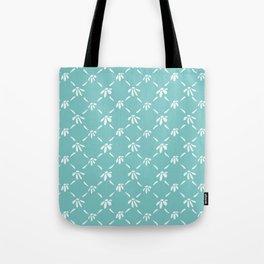 Floral Geometric Pattern Aqua Sky Tote Bag