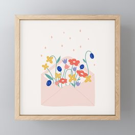 Petal post Framed Mini Art Print