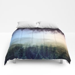 flipped forest Comforters